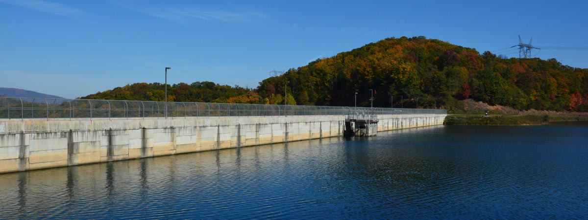 Clifford D Craig Dam at Spring Hollow - late summer