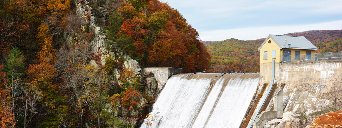 Carvins Cove Dam fall