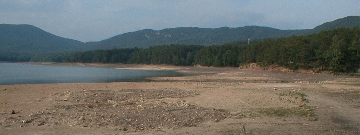 2002 Drought at Carvins Cove