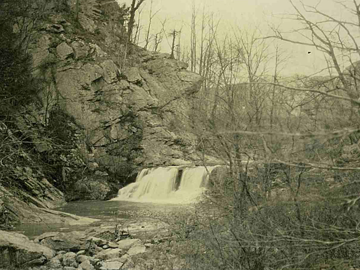 View of the Falls (Carvins Cove) 1-4-1927