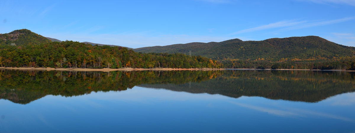 Carvins Cove reflection