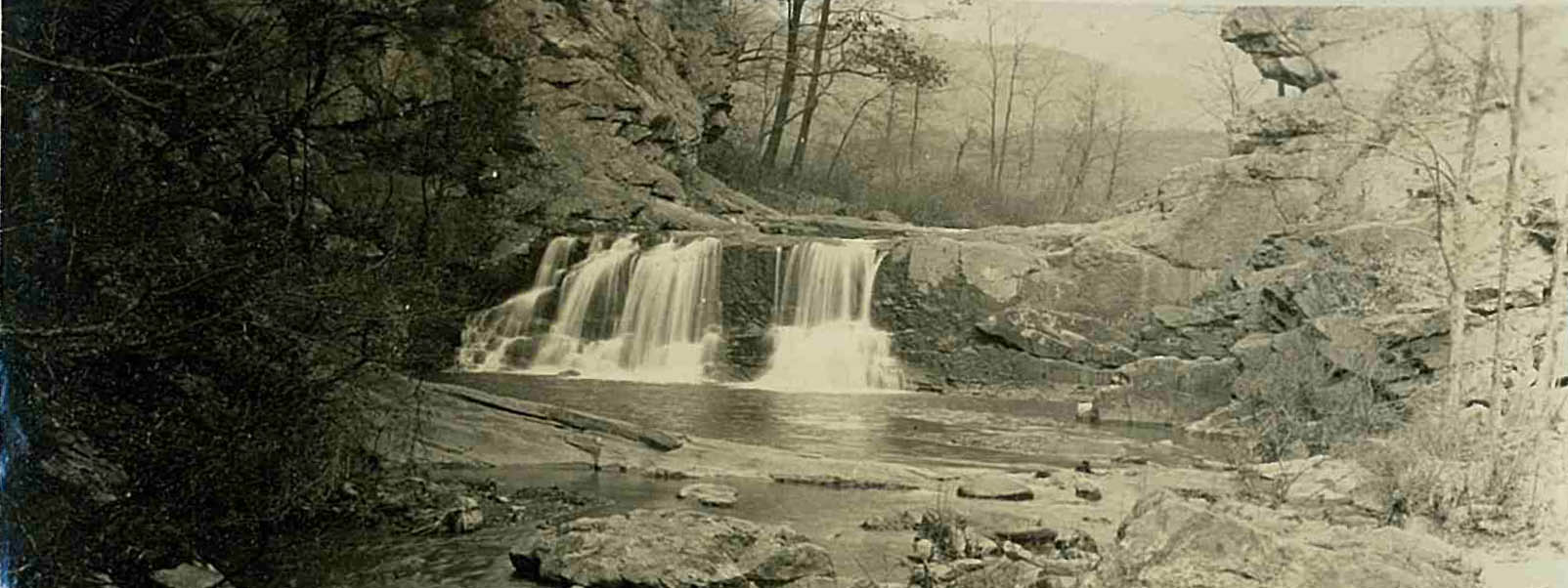 Future site of the Carvins Cove Dame -the Falls at Carvins Cove from the creek bed. 11-25-26